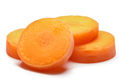 Carrot slices, clipping paths. Carrot slices. Clipping paths, shadows separated, infinite depth of field. Design elements Royalty Free Stock Photos