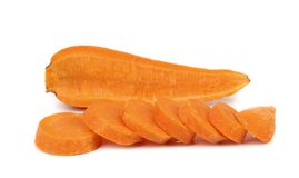 Carrot slices isolated on white background Stock Images