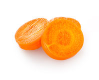 Carrot slices isolated on white Stock Photography