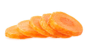 Carrot slices isolated Royalty Free Stock Image