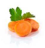 Carrot slices and parsley Royalty Free Stock Photo