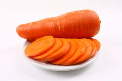 Carrot slices Stock Photo