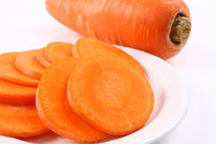 Carrot slices Royalty Free Stock Photos