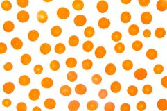 Carrot slices on white background flat lay. Pattern Royalty Free Stock Photo