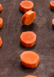 The carrot slices Stock Images