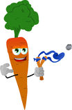Carrot with a slingshot Royalty Free Stock Images
