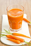 Carrot smoothie royalty free stock photography
