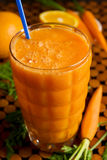 Carrot smoothie Royalty Free Stock Images