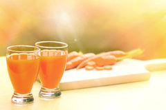 Carrot smoothie - Carrot juice Royalty Free Stock Image