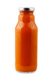 Carrot smoothie juice bottle isolated on white background Royalty Free Stock Photography
