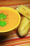 Carrot soup Stock Photo