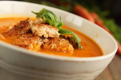 Carrot soup Stock Images