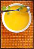 Carrot soup. Royalty Free Stock Photo
