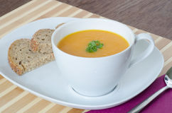 Carrot soup with ginger Royalty Free Stock Photo