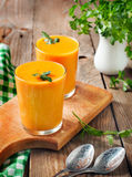 Carrot soup Stock Photography