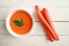 Carrot soup Royalty Free Stock Image
