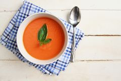 Carrot soup Stock Image