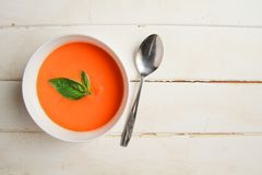 Carrot soup Royalty Free Stock Photography