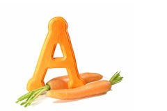 Carrot Source of vitamin A Royalty Free Stock Photos