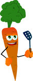 Carrot with a spatula Royalty Free Stock Photo