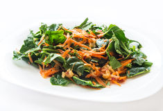Carrot and spinach salad Stock Photography
