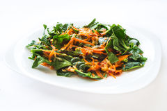 Carrot and spinach salad Stock Images