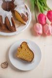 Carrot sponge cake for easter Stock Images