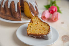 Carrot sponge cake for easter Royalty Free Stock Photo
