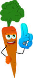 Carrot sports fan with glove Stock Photography