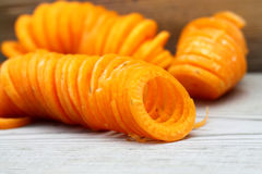 Carrot sprialized Stock Photography