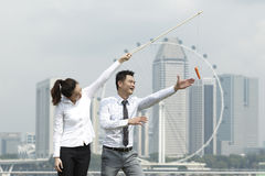 Carrot and Stick Royalty Free Stock Photos