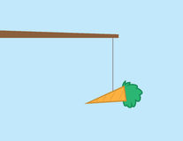 Carrot On Stick Stock Photo
