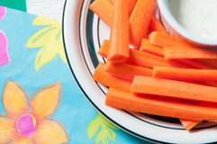 Carrot sticks. And ranch dipping sauce Royalty Free Stock Photo