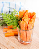 Carrot Sticks in a glass Royalty Free Stock Photo