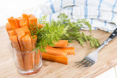 Carrot Sticks in a glass Royalty Free Stock Images