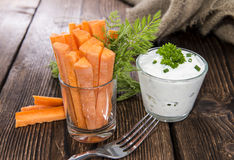 Carrot Sticks in a glass Royalty Free Stock Photography