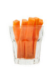 Carrot sticks in glass Royalty Free Stock Photos