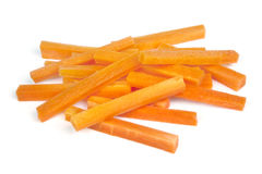 Carrot Sticks Isolated on White Royalty Free Stock Image