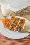 Carrot Cake On A Sunny Day stock photo