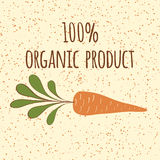 Carrot symbol. Fresh vegatable. Print made on cartoon design. Organic product. Royalty Free Stock Photography