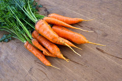 Carrot on the table Stock Images