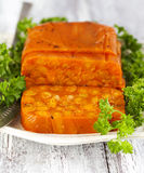 Carrot terrine Royalty Free Stock Images