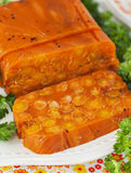 Carrot terrine Stock Image