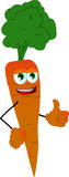 Carrot with thumb up Stock Photos