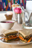 Carrot and tofu sandwich Royalty Free Stock Photography