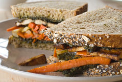 Carrot and tofu sandwich Royalty Free Stock Image