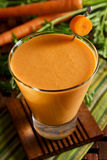 Carrot tofu smoothie Stock Images