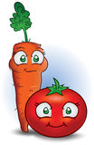 Carrot & Tomato Royalty Free Stock Photography