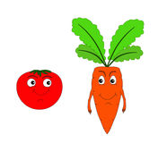 Carrot. Tomato. Stock Images