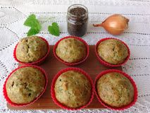 Carrot tomato muffins Royalty Free Stock Images